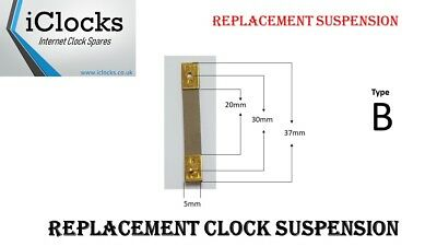 Brass Clock Pendulum Suspension Spring. (37 x 20 x 5) (Type B) UK Seller