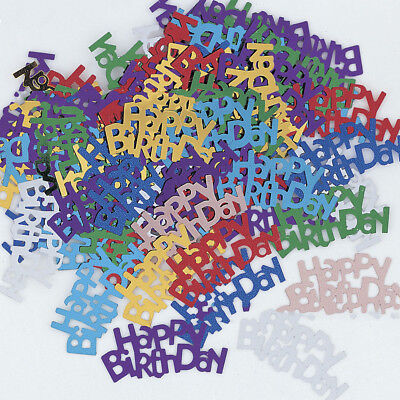 Happy Birthday Scatters Confetti Sprinkles Festival Party Wedding Table Decor