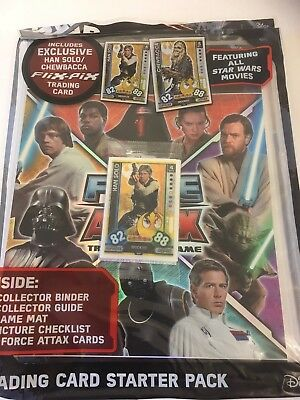 Star Wars Universe Force Starter Pack - Binder, 9 Cards & 1 Flix Pix