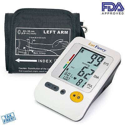 Blood Pressure Monitor Digital Upper Arm BP Cuff Automatic Machine Meter Sensor