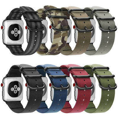 For iWatch Apple Watch Series 4 44mm Watch Band Woven Nylon Sport Strap Bands