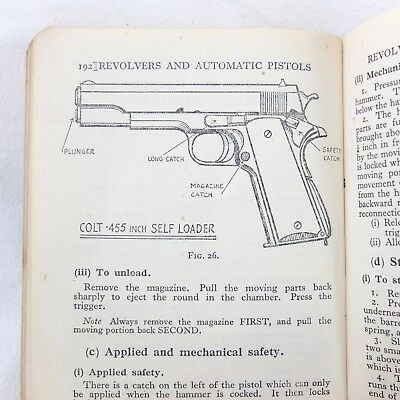 Ww2 Ww1 Machine Gun Rifle Pistol Manual Lee Enfield Webley Lewis Colt Bren Smle