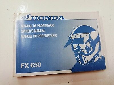 Libretto Manual uso manutenzione use maintenance Multilingua HONDA FX 650