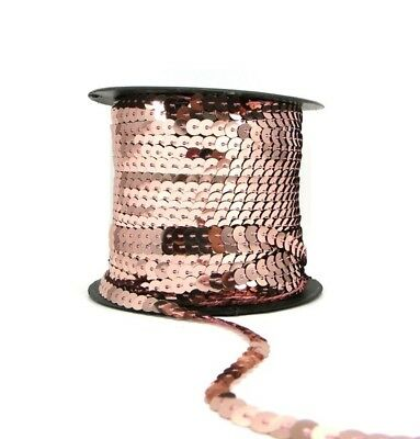 Champagne 6mm Sequin Trimming String Flat Round Sequins Costume (1/3/5/10/90M)