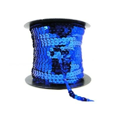 Royal Blue 6mm Sequin Trimming String Flat Round Costume Craft (1/3/5/10/90M)