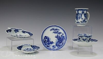 Lot Of Antique Chinese Blue And White Porcelain Plates Cups Etc - Kangxi Period