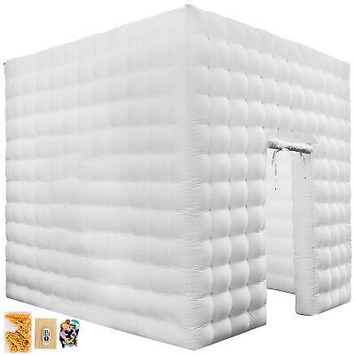 Single Door Inflatable LED Light Photo Booth Tent Party Christmas Wedding Cube