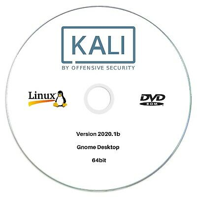 Kali Linux 2019.2 64bit Bootable run Live or Install DVD Ethical Hacking