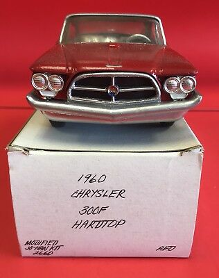 1960 Chrysler 330F Hardtop Modified Jo-Han Kit Red See Pics Sold As Is