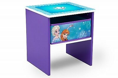 Delta Disney Frozen Wooden Side Table Kids ANNA & ELSA Bed Storage Table
