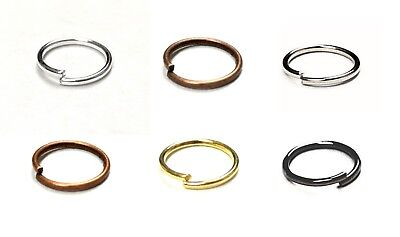 ALL SIZES & ALL COLOR Double Loop Metal Split JUMP Ring Findings Keyring Making