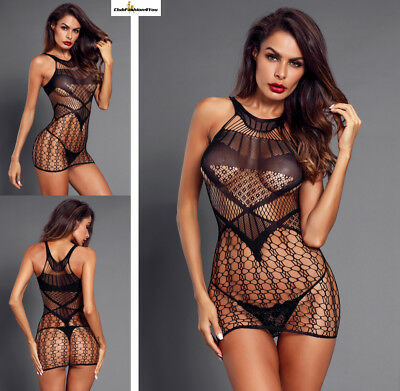 Hot Reizwäsche Fishnet Body Stocking Catsuit Netz Body Unterwäsche |H| 31113-2