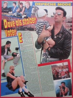 1989 DEPECHE MODE Dave Gahan CLIPPING from GERMAN MAGAZINE BRAVO N10