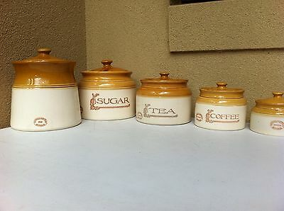 #eBayMarket -Bendigo Pottery-Set of canisters