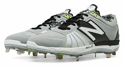 New Balance Low-Cut 3000v2 Metal Baseball Cleat Mens Shoes Grey with Black Size