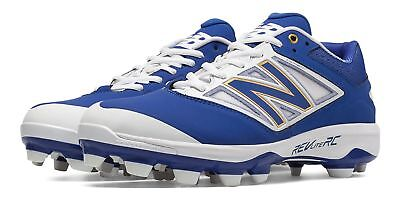 New Balance Men's Low Cut 4040v3 TPU Molded Cleat Shoes Blue with White