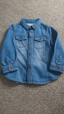 Zara Boys Denim Shirt 12/18 Months