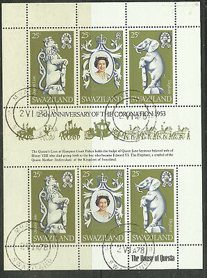 Brit. Commonwealth: Swaziland 1978  MiNr. 293/5 Coronation gest.  s.Scan