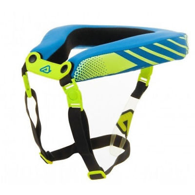 Acerbis Youth Neck Stabilizing Collar Flo Yellow Blue Kids Motocross Bmx Donut