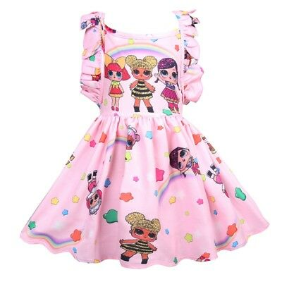 Girls Casual Holiday Party Birthday LOL Surprise Dolls Rainbow Fancy Dress