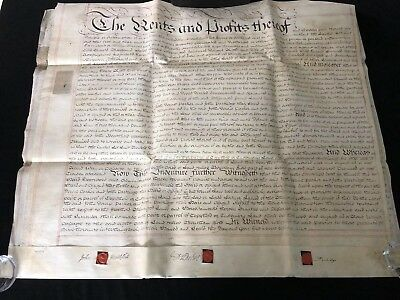 Very Large Rare Antique Vellum 5 Page Indenture Dated November 21st 1766 (31)