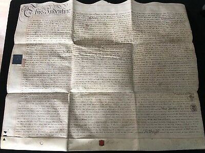 Antique Double Sided Vellum Indenture Dated 20th June 1780 (30)