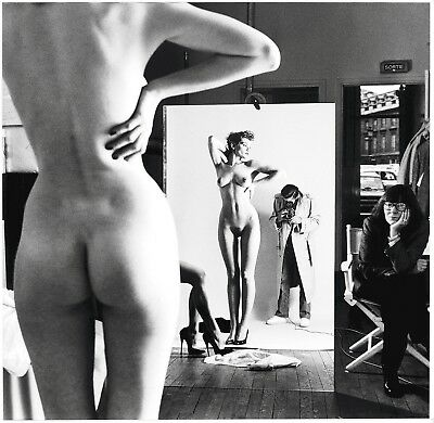 Helmut Newton Photography Marginal Notes While Filming Art Posters Print 32''