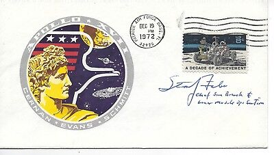 Autographed by Story Faber Chief Sim branch and Lunar Module Ops