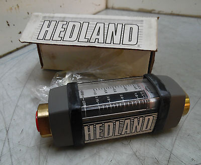 NEW Hedland In-Line Liquid Flow Meter, 605B-001 w/ Special Scale H605B-001-S11