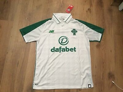 Celtic 2018/19 Away Shirt White Size Small BNWTS