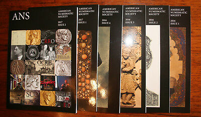 Lot A -  6 Ans Magazines***american Numismatic Society