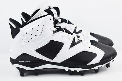 b027cddc8953 Nike Jordan 6 Retro TD Mens Size 10 Football Cleats Black White Oreo 645419  110