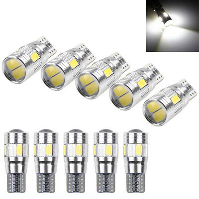 10PCS Canbus T10 194 168 W5W 5630 6LED SMD White Car Side Wedge Light Lamp Bulb