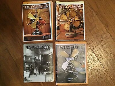 The FAN COLLECTOR NEWSLETTER Magazine 2013 Collection ~ Antique Fans (Missing 2)
