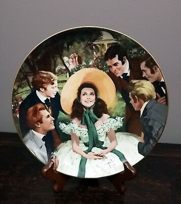 Scarlett And Her Suitors 1987 Gone With The Wind Collector Plate Original Box