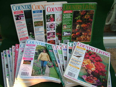 "21 VINTAGE ""COUNTRY LIVING"" MAGAZINES 1986-1996 VARIOUS MONTHS (see below)"