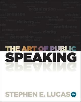 The Art of Public Speaking by Stephen Lucas 11th edition USED (2011, Paperback)