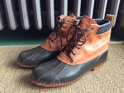 4b034ecccdb VINTAGE LL BEAN Maine Hunting Gumshoe&Leather Men's Duck Boots Sz ...