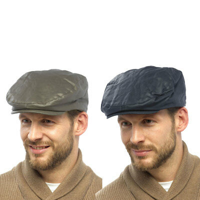 Raiken Mens Country Traditional Peaked Flat Caps Quilt Lined Military Hats Size