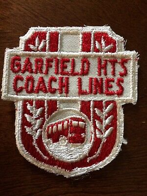 UNUSED Embroidered Advertising Garfield Hts. Coach Lines Shirt  Patch