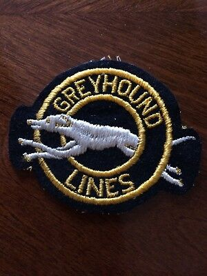 UNUSED Embroidered Greyhound Lines Shirt  Patch
