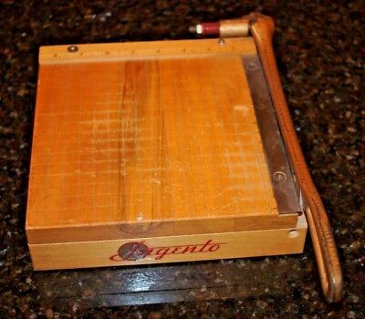 "8"" INGENTO NO. 2 Solid Maple and Steel Paper Cutter Cuts GREAT!"