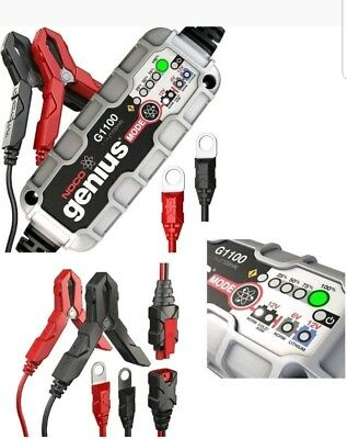 Noco Genius Motorcycle Battery Charger G1100  6V / 12v 1.1A Acid, Gel & Lithium
