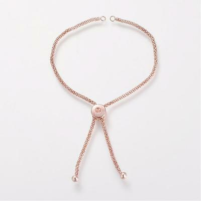 Rose Gold Slider Bracelet Blank Connector Brass Chain Link Jewelry Making