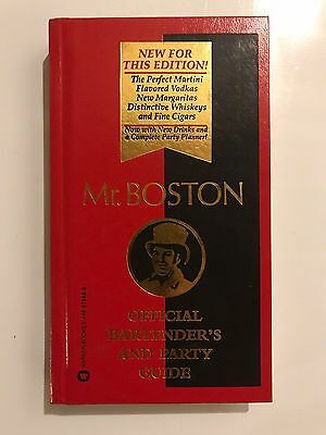 Mr. Boston Bartending And Party Guide Hardcover Book