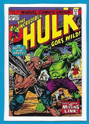 "Incredible Hulk #179_Sept 1974_Fine_""once More...the Missing Link""_Bronze Age!"