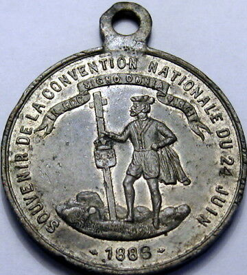 1886 Rutland British Columbia Canada 38mm National Convention Medal French