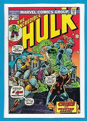 "Incredible Hulk #176_June 1974_Very Fine+_""crisis On Counter-Earth""_Bronze Age!"