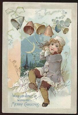 1890S Tc Advertising Woolson Spice Co. Lion Coffee, Merry Christmas Theme