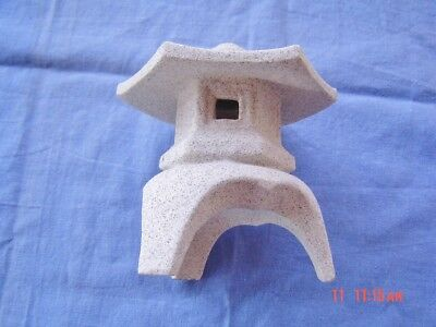 """Japanese Miniature Lantern 4"""" tall, made of cement."""